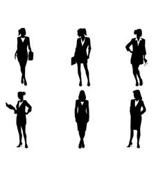 Six bussineswomen set vector