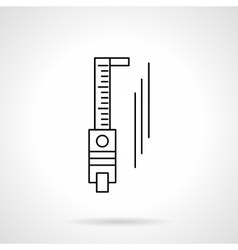 Trammel flat line icon vector image