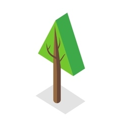 Tree in Isometric Projection vector image vector image