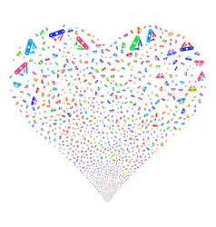 universal army knife fireworks heart vector image