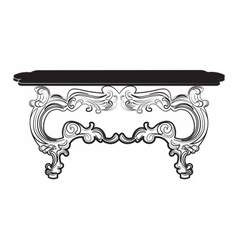 Vintage baroque table vector