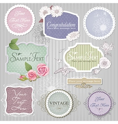 Vintage border set vector