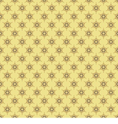 Vintage Yellow Brown Seamless Pattern vector image