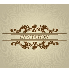 Invitation card with frame vector