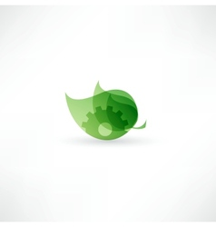 Eco gear icon vector