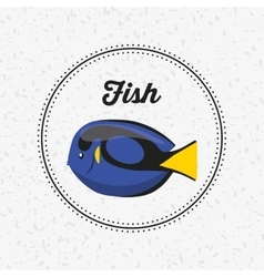 Fish animal poster icon vector
