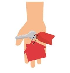 hand human with keys vector image