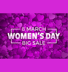 Happy womens day big sale vector