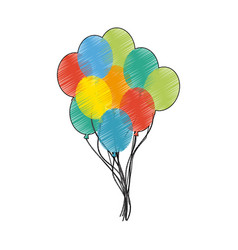 Assorted colors balloons icon image vector