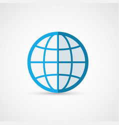 Flat globe icon geography vector