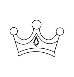 Christmas crown of wise king manger vector