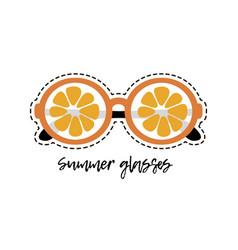 Orange glasses vector