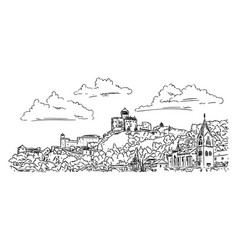 castle trencin vector image