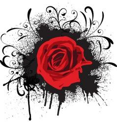 Grunge rose vector
