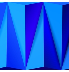 Abstract background with overlapping blue pyramids vector image
