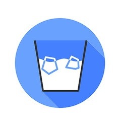 Ice bucket challenge flat style icon vector
