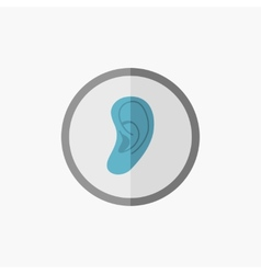 Ear flat icon vector