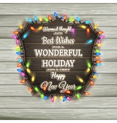 Christmas calligraphy - vintage signboard eps 10 vector