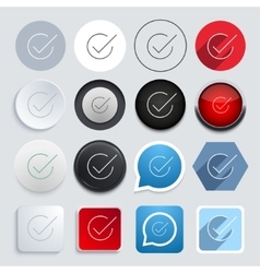 Modern check mark icons set vector