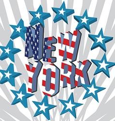 New york city retro vintage typography poster vector