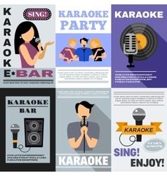 Karaoke Poster Set vector image