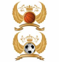 sport heraldry vector image