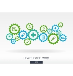 Healthcare mechanism concept abstract background vector