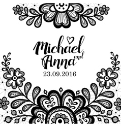 Black and white lace vector