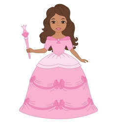 African American Princess vector image vector image