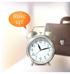 Alarm clock background vector image vector image