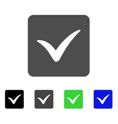 Approve box flat icon vector