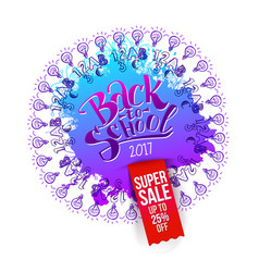 back to school super sale splash vector image