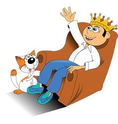 birthday boy on chair vector image