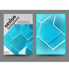 blue brochure vector image