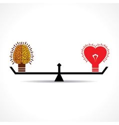 Brain and heart is equal weight age vector image