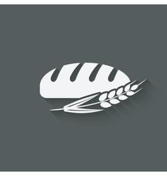 bread bakery symbol vector image