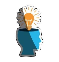 Bulb or big idea vector image