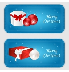 Christmas vertical banner in blue with snowflakes vector