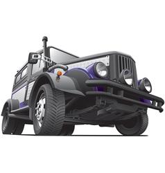 dieselpunk jeep vector image