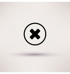Disapprove check mark icon isolated vector