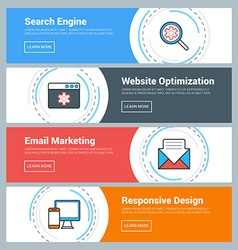 Flat Design Concept Set of Web Banners Search vector image vector image