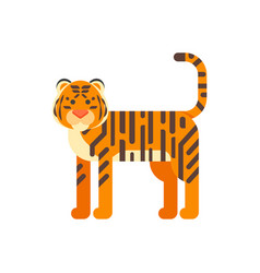 Flat style of tiger vector