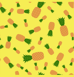 fresh ripe pineapple seamless vector image