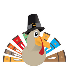 Isolated comic turkey vector