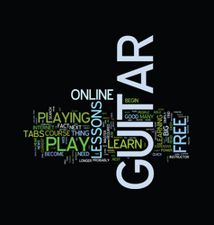 Learn how to play guitar free text background vector