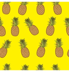 Pineapple yellow background pattern vector
