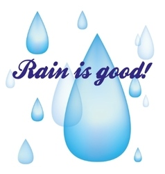 Rain drops image vector