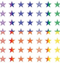Retro stars seamless pattern vector