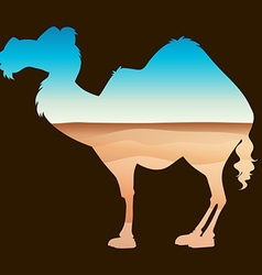 Save wildlife theme with camel and desert vector