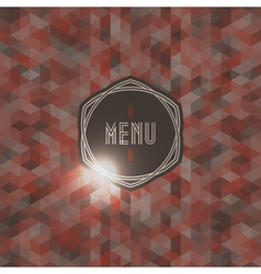 Seamless background with label for restaurant menu vector image